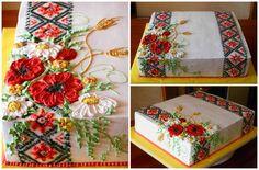 Ukraine ethno cake