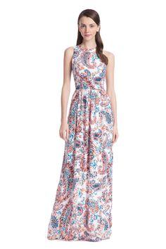 Spring Paisley Alexia Maxi Dress
