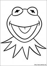 Kermit the Frog Mask Printable | Kermit the Frog Coloring Pages ...