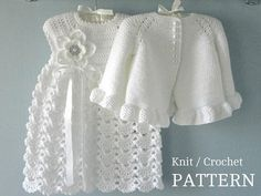 This Knitting PATTERN Baby Jacket Crochet PATTERN Baby Dress Baby Cardigan Baby Girl Pattern Baby Outfit Newborn Baby Girl Clothes Pattern PDF is just one of the custom, handmade pieces you'll find in our tutorials shops. Pattern Baby, Baby Girl Patterns, Baby Knitting Patterns, Crochet Patterns, Baby Set, Baby Baby, Baby Girl Cardigans, Knitted Baby Cardigan, Yarn Sizes