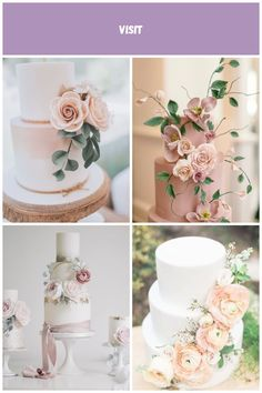 Look at the detail on this cake! A two tier simple wedding cake with flower detail. Image by Sally Rawlins Photography. Blush Wedding Cakes, Rose Gold Hair, Sally, Table Decorations, Detail, Simple, Amazing, Flowers, Photography