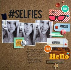 #selfie smashbook page idea!!