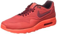 Nike Air Max 1 Ultra Moire Herren Sneakerss, Rot (Gym Red/Team Red-Unvrsty Red), 44 EU