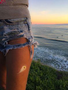 Sunset in Santa Barbara, CA | TribeTats Metallic Jewelry Tattoos | www.tribetats.com