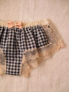 Gingham Cotton Gauze Sleep Boxer/style KOJIKA(made to order)