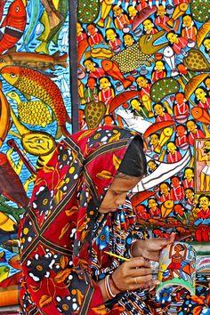 Artesã indiana.  Fotografia: Kushal Gangopadhyay.