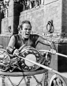 "Charlton Heston in ""Ben Hur"", 1959.  My favorite actor of all time!"