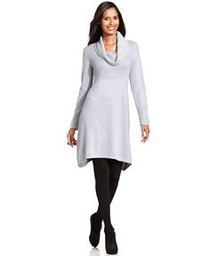 420e49ed43271 Dress, Long-Sleeve Cowl-Neck Sweater Dress & Reviews - Dresses - Women -  Macy's