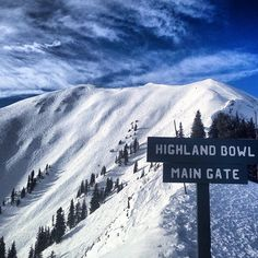 Bluebird and open for business. Beautiful day for a hike up the highland bowl (: AH patrol Ned Perry)