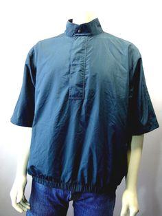 Mens DRYJOYS Footjoy Golf Teal Rain Jacket Large Short Sleeve 20304 #Dryjoys