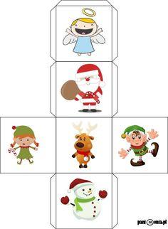 Boże Narodzenie - obrazki, ćwiczenia, kolorowanki, szablony - Pani Monia Stone Pictures, Craft Activities, Quilling, Cube, Christmas Crafts, Preschool, Diy Crafts, Language, School