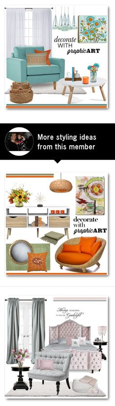 """Daisy Graphic Art"" by brendariley-1 on Polyvore featuring interior, interiors, interior design, home, home decor, interior decorating, Nate Berkus, Allstate Floral, ArteHouse and The Pillow Collection"