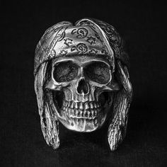 """#skull # ring #skullring #fourspeed #fourspeedmetalwerks #pewter #handmade This is """"Outlaw"""" a skull ring based on lead free pewter that made by Fourspeed Metalwerks, a top class brand that have worked with well-known musicians, artists and professional athletes."""