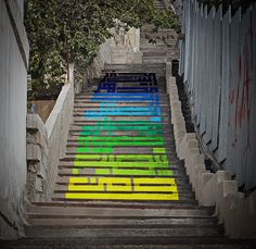 Calligraphic Stairs on Behance