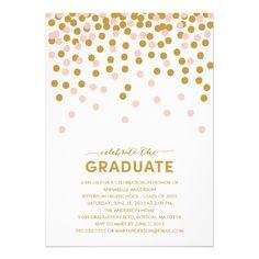 Confetti Celebration Graduation Invitation #graduation #classof2013