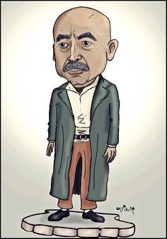 Güzel adam, güzel insan. Famous Cartoons, Turkish Actors, Illustrations And Posters, Watercolor Art, Caricatures, I Am Awesome, Nostalgia, Cinema, Geek Stuff