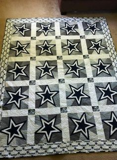 Dallas Cowboys quilt made by Michelle Dignam for her husband.