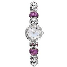 Accurist Charmed Ladies' Purple Bead Bracelet Watch