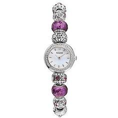 Accurist Charmed Ladies' Purple Bead Bracelet Watch