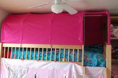 Everyone's Excited and Confused: Pictures of the Top Bunk Bed Tent and Paltry Instructions