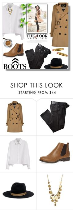 """""""Kick It: Chelsea Boots"""" by sarah-crotty ❤ liked on Polyvore featuring Burberry, BRAX, Y's by Yohji Yamamoto, Dorothy Perkins, Janessa Leone, Wander Beauty, Kenneth Cole and chelseaboots"""