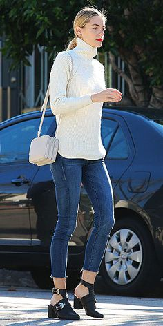 One bonus of wearing Jaime King's open-heeled Sol Sana booties (consider them the not-as-well-known cousin of the peep-...
