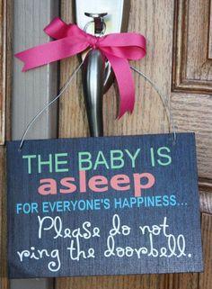 Do not disturb sign for new parents @Gina de Villiers Kizer