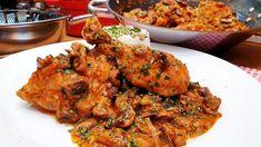 Erdészné csirkéje gombás rizs 🧅🧄🍅🍗🐔🍄 @Szoky konyhája Mushroom Recipes, Tandoori Chicken, Chicken Wings, Chicken Recipes, Stuffed Mushrooms, Meat, Ethnic Recipes, Food, Youtube