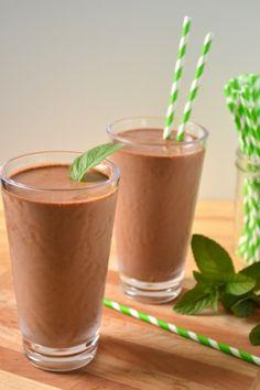 Chocolate Mint Shake - No Sugar Added | Food Doodles