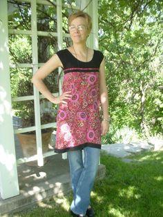 Refashion a skirt into long shirt