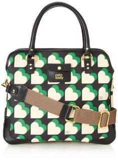 $177, Multi colored Print Leather Handbag: Orla Kiely Textured Vinyl Small Jeanie Top Handle Bag. Sold by Amazon.com.