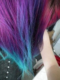 purple turquoise pink