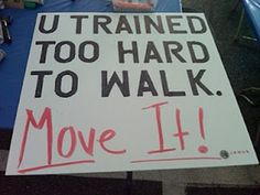 Running Matters #92: U trained too hard to walk. Move it.
