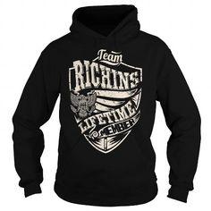 Cool Last Name, Surname Tshirts - Team RICHINS Lifetime Member Eagle T-Shirts