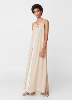 Długa sukienka dwie warstwy