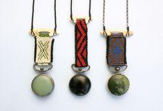 Souvenirs of Pakanga- Jade,bone,gold,stg,silk,gems-15cmx5cm neke moa