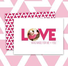 How to make a super easy valentine card on photoshop.  Freebie!