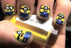 LULZ! I Always said I wanted my own set of minions! #minion nails