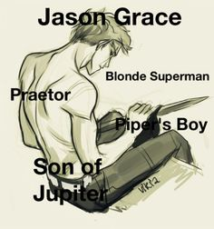 Jason Grace, son of Jupiter Quick question isn't this drawing supposed to be of Luke?