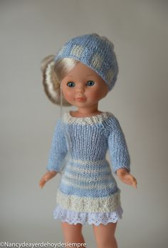Knitting Dolls Clothes, Doll Clothes, Pram Toys, Nancy Doll, Little Cotton Rabbits, Crochet Hats, Summer Dresses, Vintage Dolls, Fashion