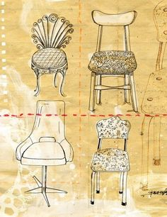 Pretty chair illustration