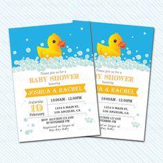 Digital Printable Duck baby Shower Invitation. by kodomoartshop