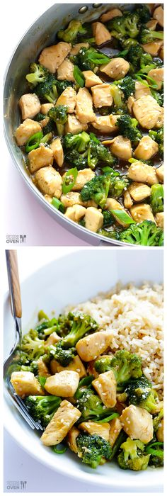 12-Minute Chicken & Broccoli -- perfect for busy weeknights! | gimmesomeoven.com