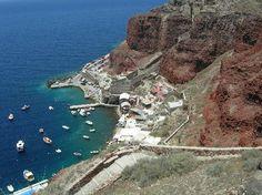 amoudi bay oia greece | Amoudi Villas: View of Amoudi Bay from OIA