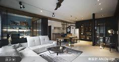 運用材質細節,在輕工業風中注入精緻感,營造輕盈流暢的格局動線與美學實踐。 Loft Style, Conference Room, Dining, Living Room, Interior Design, Table, Furniture, Home Decor, Nest Design