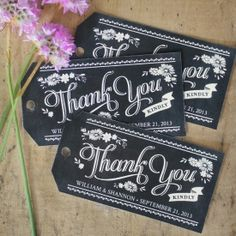 Free printable chalkboard gift tags for your wedding favors or gifts. Personalize with your names, wedding date, or personal message.