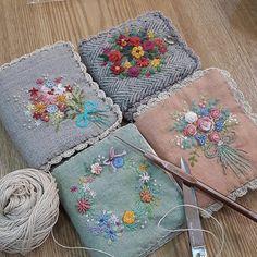 #Embroidery#stitch#needle work#needle case #프랑스자수#일산프랑스자수#자수#자수타그램#자수소품#바늘케이스 #소중한 바늘에게 집을 만들어주세요^^~~