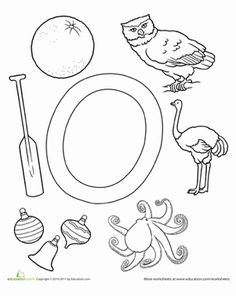 letter o kindergarten worksheets coloring page