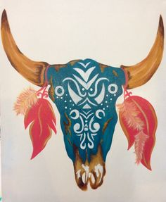 Cow Skull Painting