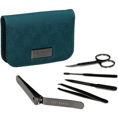 Manicure Kit in Teal design by Ted Baker ($21) ❤ liked on Polyvore featuring beauty products, nail care, manicure tools, manicure kit and ted baker
